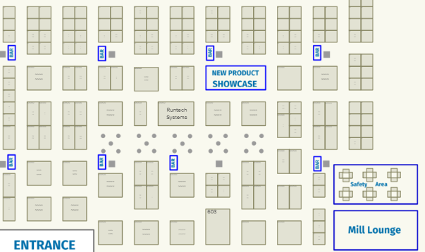 2018 Exhibitor Floorplan