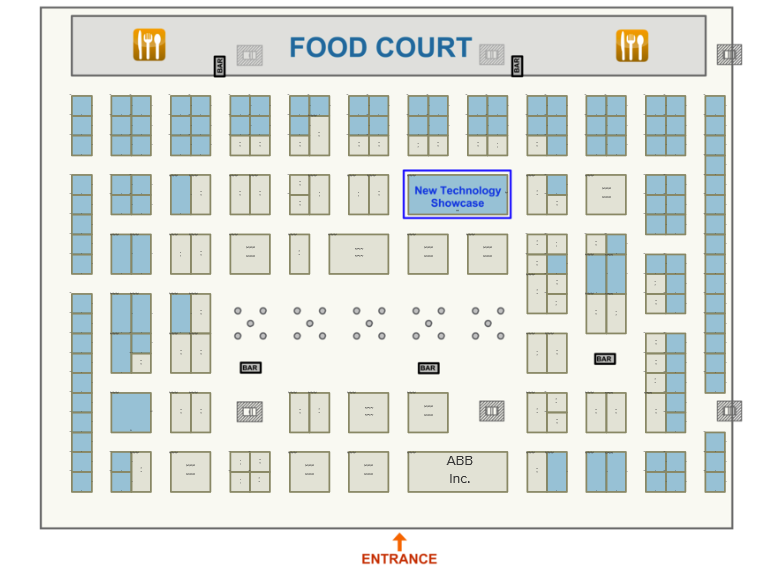 PaperCon 2020 Exhibit Hall Floorplan